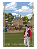 Governor's Palace - Williamsburg, Virginia Print by  Lantern Press