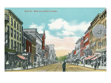Battle Creek, Michigan - Main Street West from Bank Corners Poster by Lantern Press