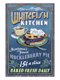 Whitefish, Montana - Huckleberry Posters by  Lantern Press