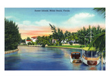 Miami Beach, Florida - View of Sunset Islands Posters by  Lantern Press