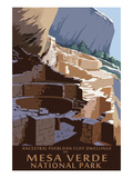Mesa Verde National Park, Colorado - Long House Poster by  Lantern Press
