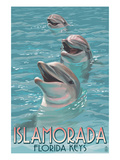 Islamorada, Florida Keys - Dolphins Prints by  Lantern Press