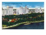 Miami, Florida - Bayfront Park and Skyline View Prints by  Lantern Press