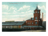 Rochester, New York - Eric Train Depot View Print by  Lantern Press