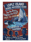 Lopez Island, Washington - Whale Watching Print by  Lantern Press