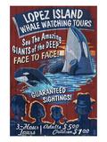 Lopez Island, Washington - Whale Watching Print by  Lantern Press