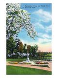 Knoxville, Tennessee - Springtime Scene on Talahi Drive in the Sequoyah Hills Kunstdrucke von  Lantern Press