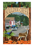 Boulder Creek, California - Montage Scenes Art by  Lantern Press