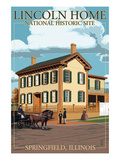 Lincoln Home National Historic Site - Springfield, Illinois Prints by Lantern Press
