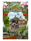 Williamsburg, Virginia - Montage Scenes Art by  Lantern Press