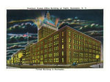 Rochester, New York - Eastman Kodak Office Bldg at Night Prints by  Lantern Press