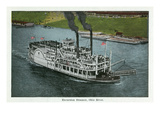 Cincinnati, Ohio - Ohio River Excursion Steamer Near City Art by  Lantern Press