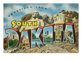 Greetings from South Dakota - Large Letter Scenes Posters by  Lantern Press