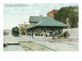 Willimantic, Connecticut - Railroad Station Exterior View Posters by Lantern Press