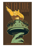 Statue of Liberty National Monument - New York City, NY - Torch Posters by  Lantern Press