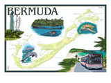 Bermuda - Nautical Chart Print by  Lantern Press