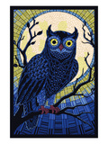 Owl - Paper Mosaic Posters van  Lantern Press