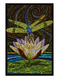 Dragonfly - Paper Mosaic Posters by  Lantern Press