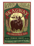 Skagway, Alaska - Moose Ale Prints by Lantern Press