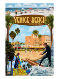 Venice Beach, California - Montage Scenes Posters by  Lantern Press