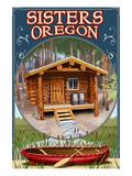 Sisters, Oregon - Cabin Scene Art by  Lantern Press