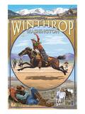 Winthrop, Washington - Cowboy Montage Posters by  Lantern Press