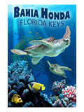 Bahia Honda, Florida Keys - Sea Turtles Prints by  Lantern Press