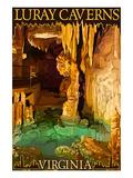 Luray Caverns, Virginia - Wishing Well Poster von  Lantern Press