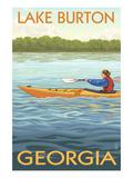 Lake Burton, Georgia - Kayak Scene Prints by  Lantern Press