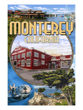 Monterey, California - Montage Scenes Prints by Lantern Press