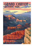 Grand Canyon National Park - Mather Point Plakater af  Lantern Press