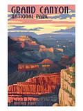 Lantern Press - Grand Canyon National Park - Mather Point - Reprodüksiyon