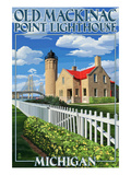 Mackinac Island, Michigan - Old Mackinac Lighthouse Art by  Lantern Press
