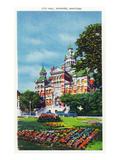 Winnipeg, Manitoba - City Hall Exterior and Grounds Prints by  Lantern Press