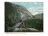 White Mountains, New Hampshire - Train Crossing the Willey Brook Bridge Posters by Lantern Press