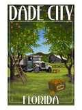 Dade City, Florida - Orange Orchard Scene Prints by  Lantern Press