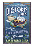 Bigfork, Montana - Huckleberry Pie Sign Prints by  Lantern Press