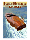 Lake Burton, Georgia - Wooden Boat Scene Posters by  Lantern Press
