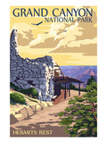 Grand Canyon National Park - Hermits Rest Prints by  Lantern Press