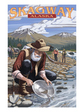 Gold Miners - Skagway, Alaska Print by Lantern Press