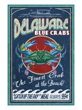 Delaware Blue Crabs - Best at the Beach Plakater af  Lantern Press