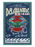 Delaware Blue Crabs - Best at the Beach Prints by Lantern Press