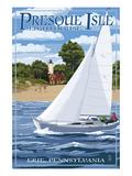 Presque Isle Lighthouse - Erie, Pennsylvania Affiches par  Lantern Press