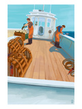 Lobster Boat Fishing Prints by  Lantern Press
