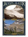 Jackson Glacier Topographical Map - Glacier National Park, Montana Prints by  Lantern Press