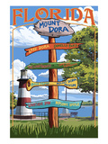 Mount Dora, Florida - Sign Destinations Print by  Lantern Press
