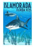 Islamorada, Florida Keys - Tiger Shark Kunstdrucke von  Lantern Press