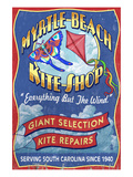 Myrtle Beach, South Carolina - Kite Shop Poster by  Lantern Press