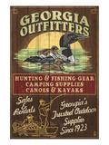 Georgia - Loon Outfitters Affiches par  Lantern Press