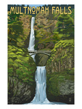 Multnomah Falls, Oregon - Summer View Prints by  Lantern Press
